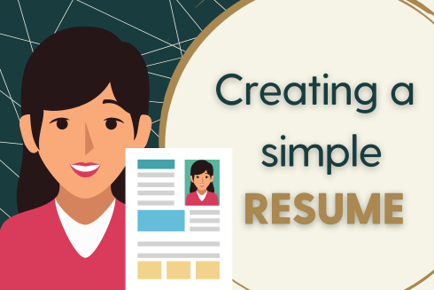 Creating a Simple Resume
